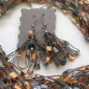 Handmade Necklace and Earrings.